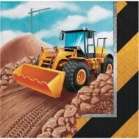 Creative Converting 339795 Big Dig Construction Beverage Napkins, 16 Count - 16