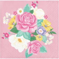 Creative Converting 339801 Floral Tea Party Beverage Napkins, 16 Count