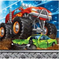Creative Converting 339806 Monster Truck Beverage Napkins, 16 Count