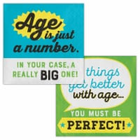 Creative Converting 339860 Old Age Humor Age is Just a Number Beverage Napkins, 16 Count
