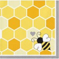 Creative Converting 339891 Bumblebee Baby Shower Beverage Napkins, 16 Count - 16