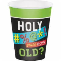 Creative Converting 340114 Old Age Humor 12 oz Paper Cups, 8 Count - 8