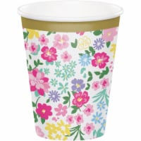 Creative Converting 340123 Floral Tea Party Cups, 8 Count - 8