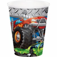 Creative Converting 340125 Monster Truck Cups, 8 Count - 8