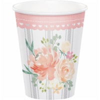 Creative Converting 340129 Country Floral Cups, 8 Count - 8
