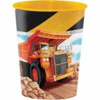 Creative Converting 340203 Big Dig Construction 16 oz Plastic Cup - 1
