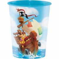 Creative Converting 340204 Treasure Island Pirate 16 oz Plastic Cup - 1