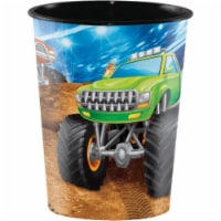 Creative Converting 340205 Monster Truck 16 oz Plastic Cup