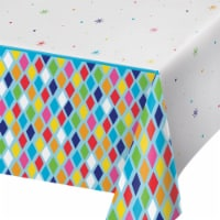 Creative Converting 340215 Bright Birthday Plastic Tablecloth