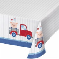 Creative Converting 340220 Farmhouse 1st Birthday Boy Plastic Tablecloth
