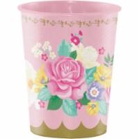 Creative Converting 340472 Floral Tea Party 16 oz Plastic Cup