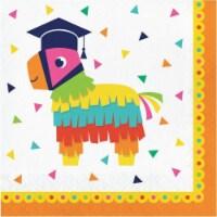 Creative Converting 640963 Fiesta Fun Grad Lunch Napkins - Pack of 16