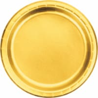 Creative Converting 343841 9 in. Gold Foil Paper Plates - 8 Count - Case of 12