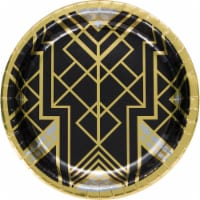 Creative Converting 343951 10 in. Roaring 20s Banquet Plates - 8 Count - Case of 12 - 1