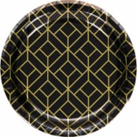 Creative Converting 343953 7 in. Roaring 20s Dessert Plates - 8 Count - Case of 12 - 1