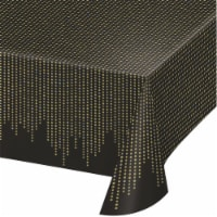 Creative Converting 343960 54 x 102 in. Roaring 20s Plastic Tablecloth - Case of 6