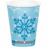 Creative Converting 343964 9 oz Snow Princess Paper Cup - 8 Count - Case of 12 - 1