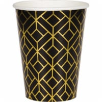 Creative Converting 343966 12 oz Roaring 20s Paper Cup, 8 Count - Case of 12 - 1
