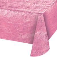 Creative Converting 344359 54 x 108 in. Paper Tablecloth, Candy Pink - Case of 12