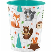 Creative Converting 344414 16 oz Woodland Plastic Cup for Beverage, Case of 12