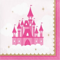 Creative Converting 344444 6.5 x 6.5 in. Princess Lunch Napkins - 192 Count