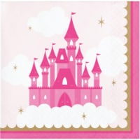 Creative Converting 344445 5 x 5 in. Napkins for Princess Drinks - 192 Count