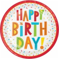 Creative Converting 344455 9 in. Birthday Party Fun Plates - 96 Count - 1
