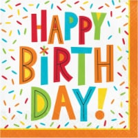 Creative Converting 344457 Birthday Fun Luncheon 2-Ply Tissue Napkins - 192 Count