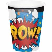 Creative Converting 344475 8 oz Superhero Slogans Cup- 96 Count - 1