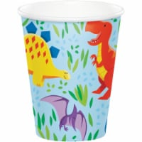 Creative Converting 344479 8 oz Dinosaur Friends Cup - 96 Count - 1