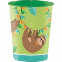 Creative Converting 344502 16 oz Sloth Party Plastic Cup, Case of 12