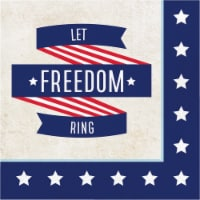 Creative Converting Let Freedom Ring Lunch Napkins - Red/White/Blue