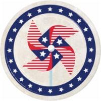Creative Converting Patriotic Pinwheel Disposable Plates - 8 pk - Red/White/Blue