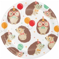 Creative Converting 345891 7 in. Hedgehog Party Dessert Plates - 96 Count - 1