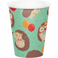Creative Converting 345982 9 oz Hedgehog Party Cups - 96 Count - 1
