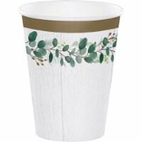 Creative Converting 346149 12 oz Eucalyptus Cups - 96 Count - 1