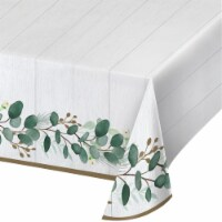 Creative Converting 346151 54 x 102 in. Eucalyptus Paper Tablecloths - 6 Count