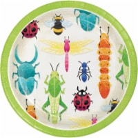 Creative Converting 346235 7 in. Birthday Bugs Dessert Plates - 96 Count