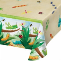 Creative Converting 346239 54 x 102 in. Birthday Bugs Paper Tablecloths - 6 Count