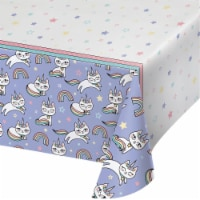 Creative Converting 346252 54 x 102 in. Sassy Caticorn Paper Tablecloths - 6 Count - 1