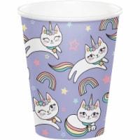 Creative Converting 346253 9 oz Sassy Caticorn Cups - 96 Count - 1