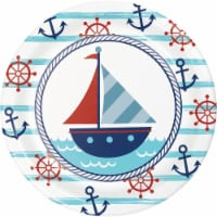 Creative Converting 346274 7 in. Nautical Baby Shower Dessert Plates - 96 Count - 1