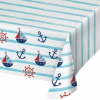 Creative Converting 346280 54 x 102 in. Nautical Baby Shower Paper Tablecloths - 6 Count