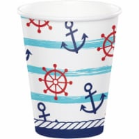 Creative Converting 346281 9 oz Nautical Baby Shower Cups - 96 Count - 1
