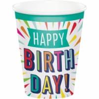 Creative Converting 346329 9 oz Birthday Burst Cups - 96 Count - 1