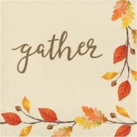 Creative Converting Gather Thanksgiving Lunch Napkin