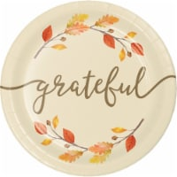 Creative Converting Grateful Thanksgiving 7 Inch Plates
