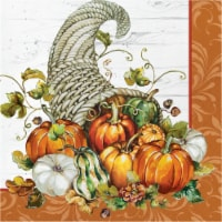 Creative Converting Bountiful Cornucopia - White/Orange