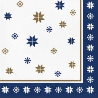 Creative Converting Contemporary Snowflakes Lunch Napkin
