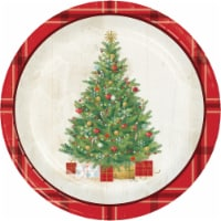 Creative Converting Cozy Christmas Plate
